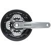 Shimano Tourney FC-TY701 Guarnitura asse quadrato 6/7/8 velocità 42-34-24 Z grigio/nero